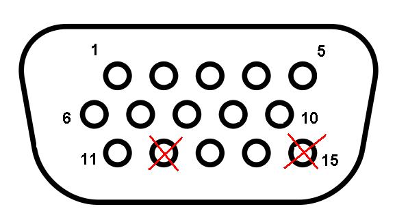 Схема для кабеля VGA-VGA: