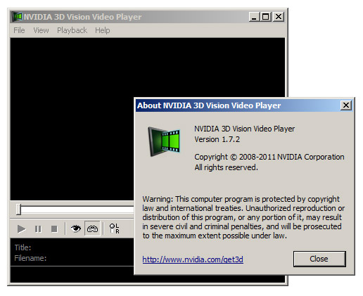 3D Vision Video Player 1.7.2