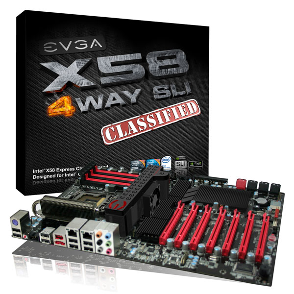 EVGA 4-Way SLI mainboard