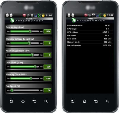 MSI Afterburner для Android