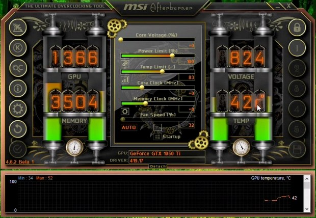Скин Steampunk для MSI Afterburner