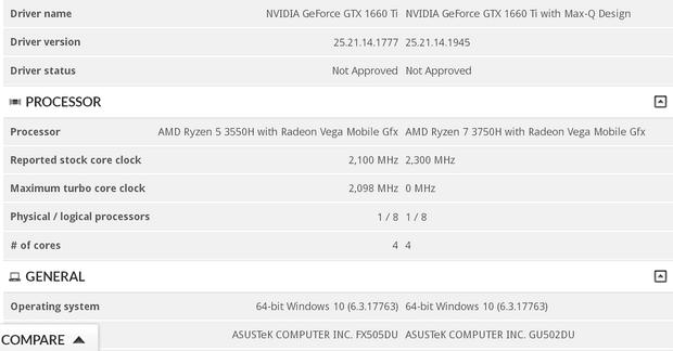 Выдержка из базы 3DMark с APU AMD и видеокартами Turing