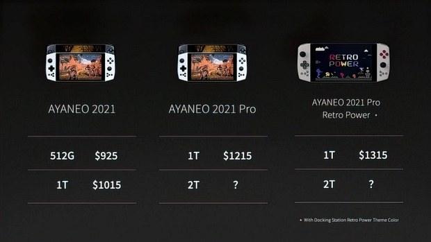 Портативный компьютер Aya Neo 2021 Pro будет стоить 1215 долларов