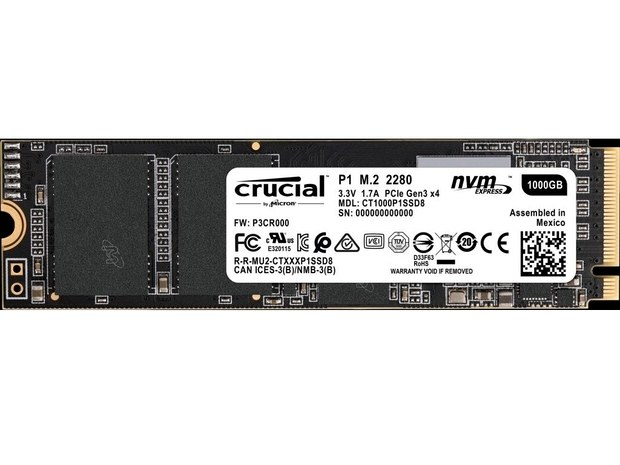 QLC NAND NVMe SSD Crucial P1