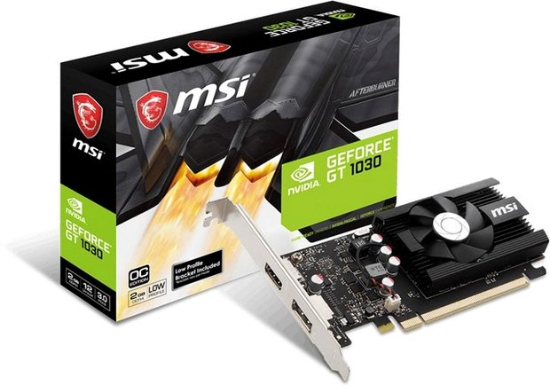 Видеокарта MSI GeForce GT 1030