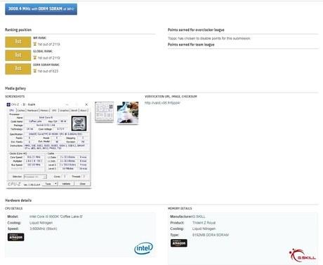 Подтверждение разгона памяти до 6016 МГц