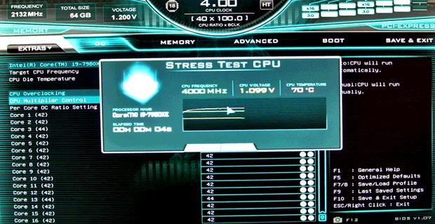 Стресс тест в BIOS
