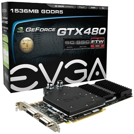EVGA GeForce GTX480 Hydra Copper FTW
