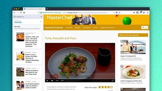 Работа технологии Advance на примере кулинарных рецептов