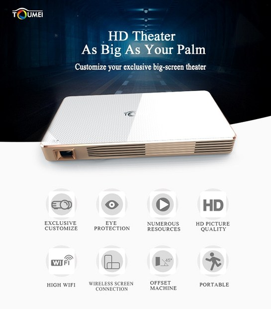 TOUMEI C800 Portable Smart DLP LED Projector