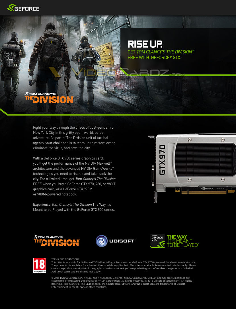 Преодоление NVIDIA по Tom Clancy's The Division