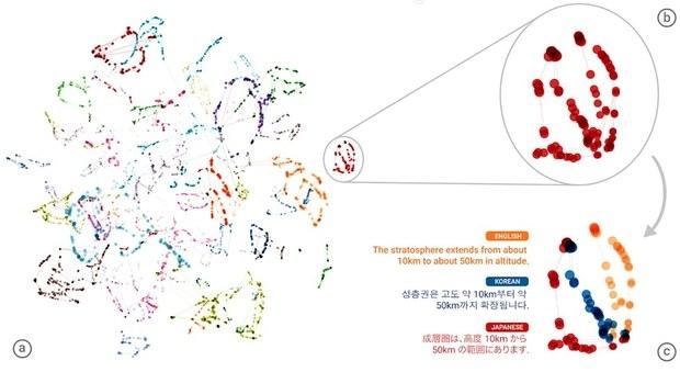Визуализация перевода между языками