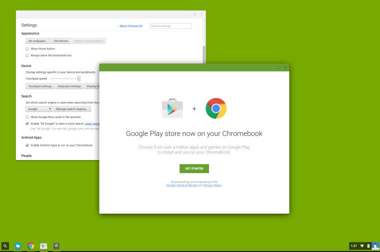 Chrome + Google Play