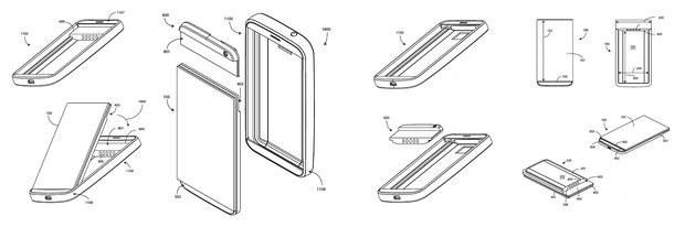 Иллюстрация патента модульного смартфона Google