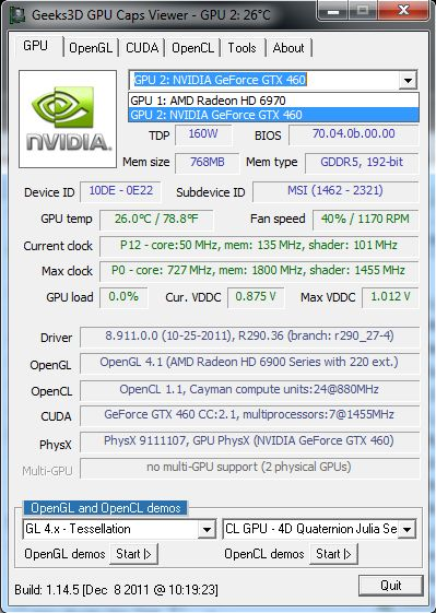 GPU Caps Viewer 1.14.5