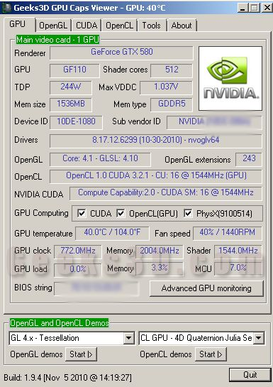 GPU Caps Viewer 1.9.4