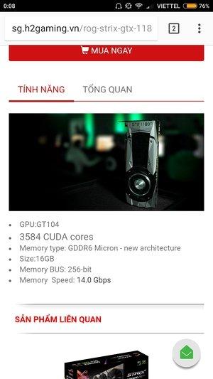 Спецификации Asus ROG Strix GTX 1080