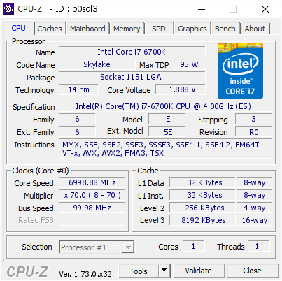 Разгон Intel Core i7-6700K Skylake