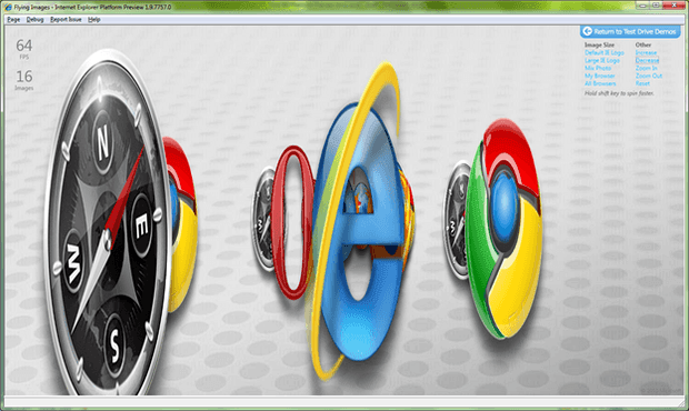 IE9 rendering acceleretion