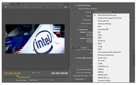 Intel QuickSync plugin for Premiere