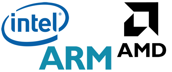 Intel, AMD, ARM