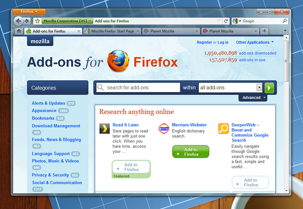 Firefox 4 в Windows 7