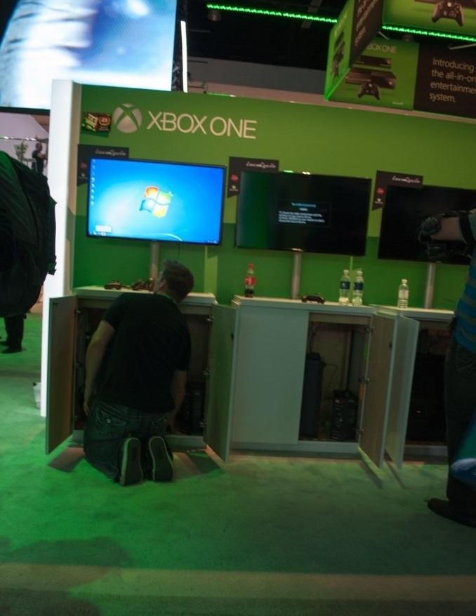 Для демонстрации игр Xbox One Microsoft использовала ПК с картами ...