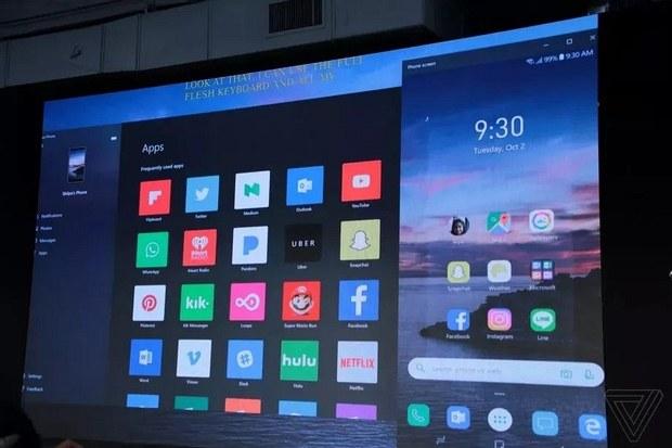 Зеркалирование смартфона в приложение Your Phone
