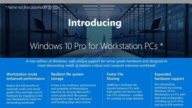 Windows 10 Pro for Workstation PCs