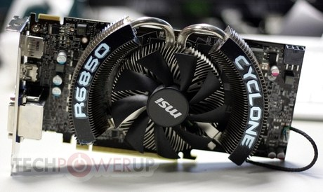 Radeon HD R6850 Cyclone OC Power Edition от MSI