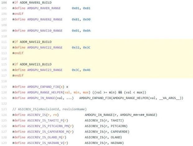 Участок кода драйвера AMD для Linux