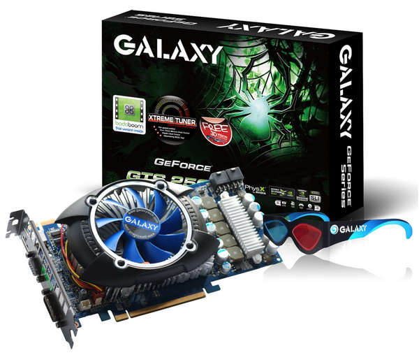 Galaxy GTS250 3D Glass