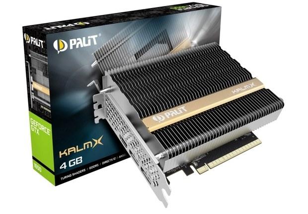Внешний вид видеокарты и упаковки Pali GTX 1650 KalmX