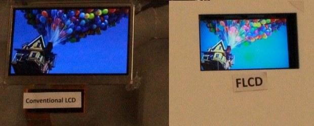 Сравнение экранов LCD и FLCD
