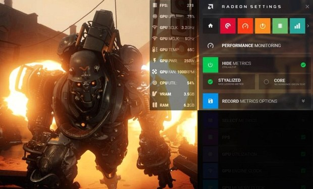 OSD в Radeon Software Crimson ReLive Edition