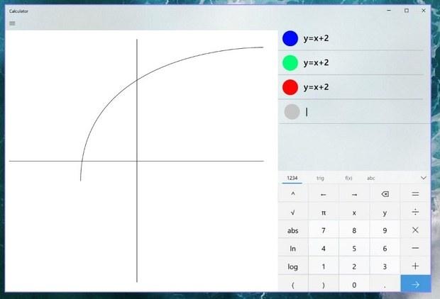 Графический режим калькулятора Windows