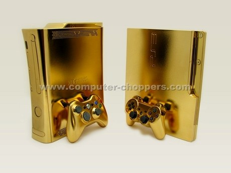 Xbox 360 & PlayStation 3 in Gold Case