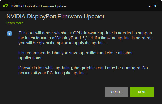 NVIDIA Graphics Firmware Update Tool