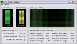 Video Memory Watcher