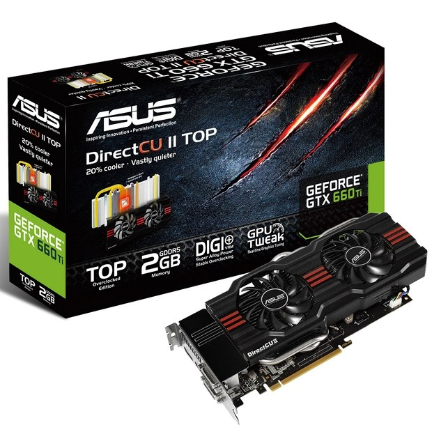 Карта GeForce GTX 660 Ti DirectCU II TOP от ASUS, © ASUS