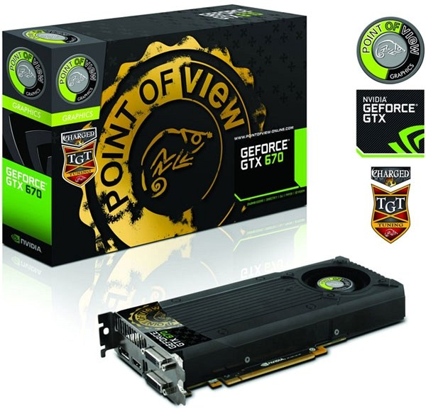 Карта GeForce GTX 670 от Point of View (серия от TGT Tuning Team), © Point of View